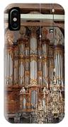 Baroque Grand Organ In Oude Kerk In Amsterdam IPhone Case