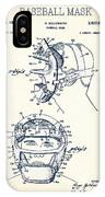 Baseball Mask Patent White Us2627602 A IPhone Case