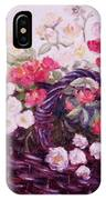 Basket Of Baby Roses IPhone Case