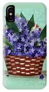 Basket Of Hyacinths  IPhone Case