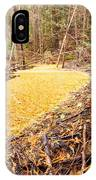Beaver Dam In Fall Colored Forest Wetland Swamp IPhone Case