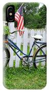 Bicycle And White Fence IPhone Case