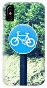 Bicyle Route IPhone Case