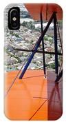 Biplane Over San Diego IPhone Case