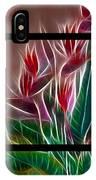 Bird Of Paradise Fractal IPhone Case