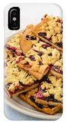 Blackberry Grated Pie IPhone Case