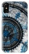 Blue Clockwork IPhone Case