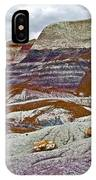 Blue Mesa Trail In Petrified Forest National Park-arizona IPhone Case