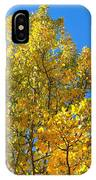 Blue Skies And Golden Aspen Trees IPhone Case