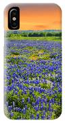 Bluebonnet Sunset  IPhone Case