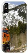 Bnsf Rolls Through Rollins Pass Colorado IPhone Case