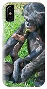 Bonobo Adult And Baby IPhone Case