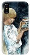 Boy Plays IPhone Case