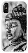 Buddha - Siddhartha Gautama - In Black And White IPhone Case