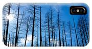 Burnt Pine Trees In A Forest, Grand IPhone Case