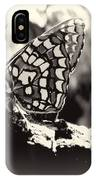 Butterfly In Black And White  IPhone Case