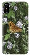 Butterfly On Oregano IPhone Case
