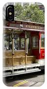 Cable Car On Turntable San Francisco IPhone Case