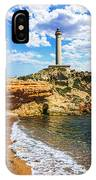Cabo De Palos Lighthouse On La Manga In Spain. IPhone Case