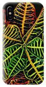 Cadiaeum Crotons Tropical Houseplant Shrub IPhone Case
