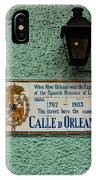 Calle Orleans IPhone Case