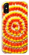 Candy Corn In Circles IPhone Case