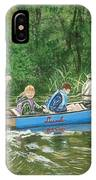 Canoeing With Grandpa IPhone Case