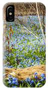 Carpet Of Blue Flowers In Spring Forest IPhone Case