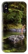 Cascade Locks, Oregon, Usa. A Woman IPhone Case
