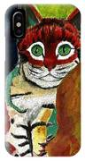 Cat Around Corner IPhone Case