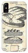 Catcher's Glove Patent 1891 - Vintage IPhone Case