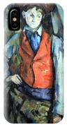 Cezanne's Boy In Red Waistcoat IPhone Case