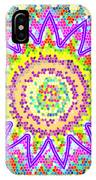 Chakra Energy  Mandala Ancient Healing Meditation Tool Stained Glass Pixels  Live Spinning Wheel  IPhone Case