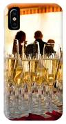 Champagne Glasses At The Party IPhone Case