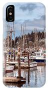 Charleston Marina Fishing Boats IPhone Case