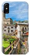 Chatelard Village With Castle IPhone Case