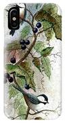 Chickadees And Blueberries IPhone Case