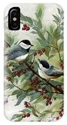 Chickadees And Cherries IPhone Case