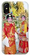 Children Dressed In Full Traditional Chinese Opera Costumes. IPhone Case