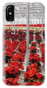 Christmas Poinsettia's. IPhone Case