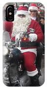 Christmas Toys For Tots Santa On Motorcycle Casa Grande Arizona 2004 IPhone Case