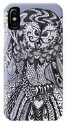 Close Up Owl Blue IPhone Case