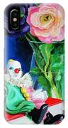 Clown Book And Flowers IPhone Case