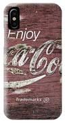 Coca Cola Pink Grunge Sign IPhone Case