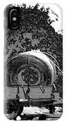 Coils Of Thick Plastic Pipe On A Carrier Wagon IPhone Case