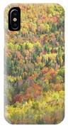 Colorful Autumn Forest In Mount Blue State Park Weld Maine IPhone Case
