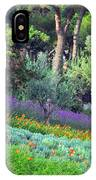 Colorful Park With Flowers IPhone Case