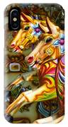 Colourful Fariground Horses On A Carousel IPhone Case