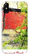 Covered Bridge In Autumn Fairmount Park Philadelphia IPhone Case