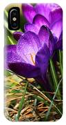 Crocus And Drops IPhone Case